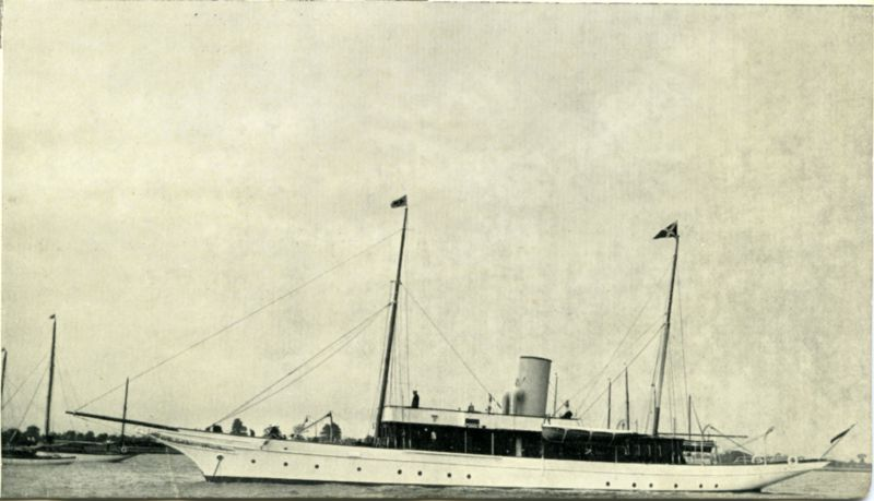 Steam Yacht MEDEA 139 tons. Serviced by Aldous Successors Ltd.