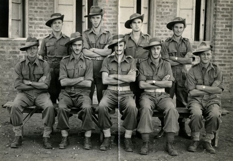 Army - Field Ambulance Corps. Norman Ward front left ? (no caption with photo. 