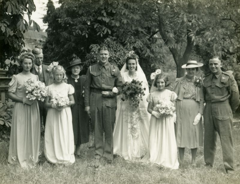 Wedding of Sgt James Argent and Winifred Joan Mussett
