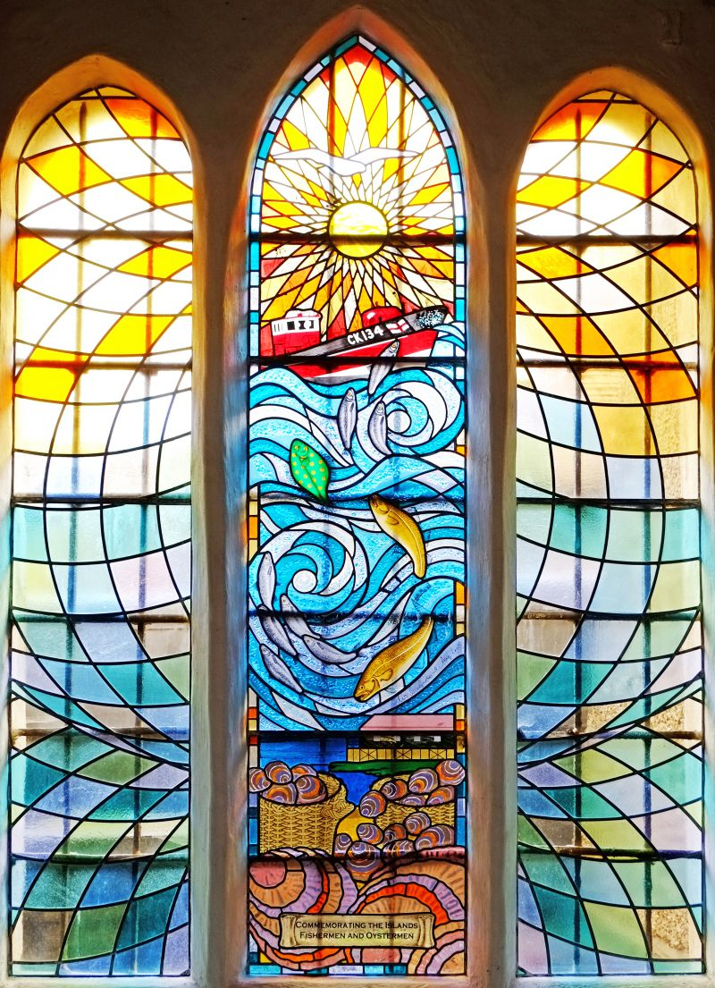 Stained glass window by Lisa McFarlane, 2005