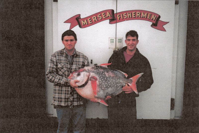 The Mersea Moon-Fish. Steven Stoker left and Kevin Mole right.