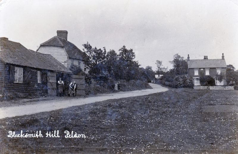 Blacksmith Hill, Peldon. Hammond postcard 