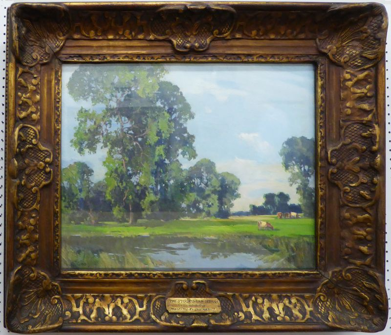 The Stour near Dedham. Lewis Taylor Gibb. Oil on canvas. 