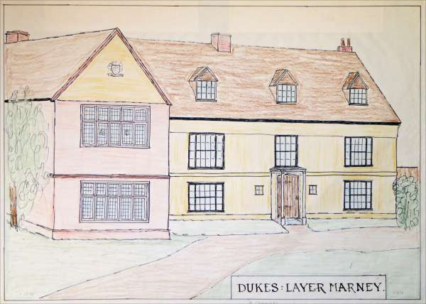Dukes, Layer Marney. Drawing by T.B. Millatt 