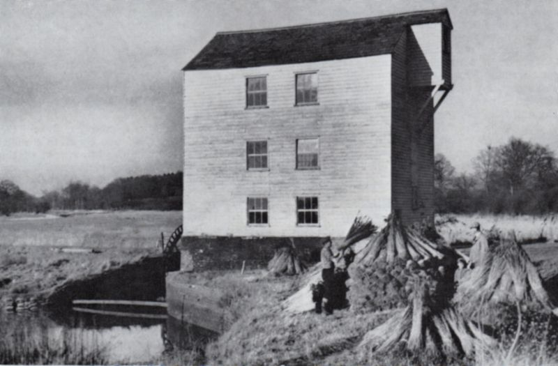 Thorrington tide-mill, Essex. The machinery is still intact