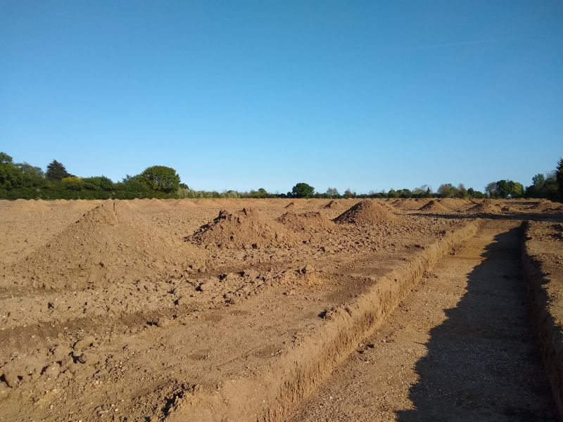 Archaeological dig on Brierley Paddocks, the site for new houses, between Cross Lane and Seaview Avenue.