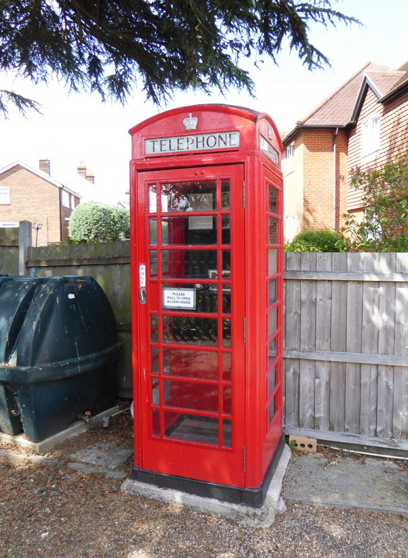 Our Telephone Box. Go inside and Press Button B - but you may not get your money back. 