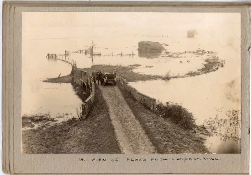 4. A view of the flood from Langham Mill.