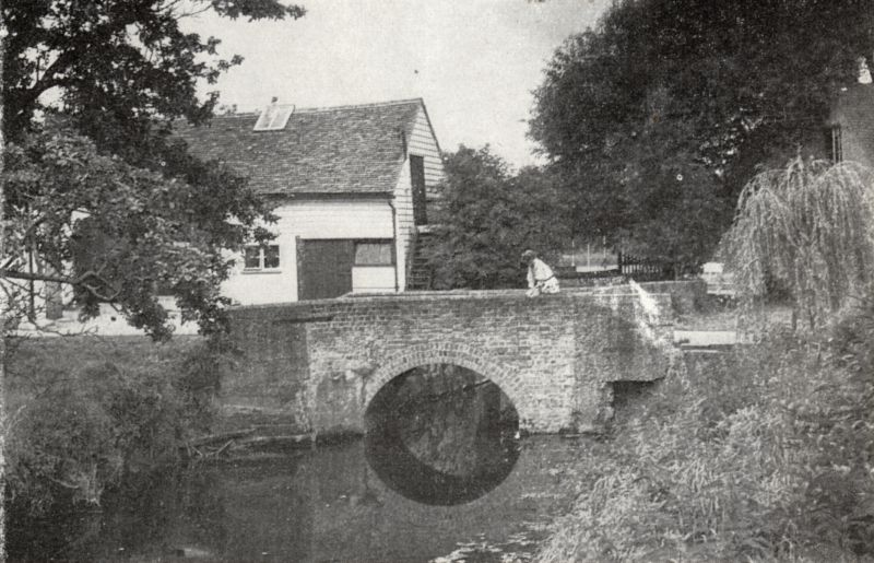 The bridge at Layer de la Haye watermill.