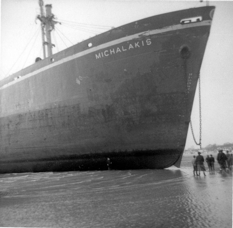 MICHALAKIS ashore at West Mersea Date: c15 February 1958.