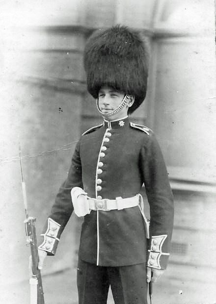 George Sanders Smith on guard - Coldstream Guards