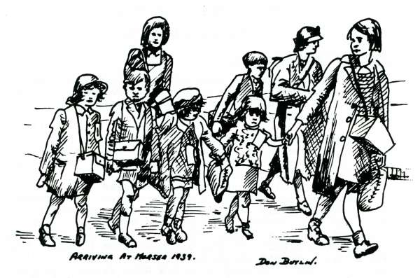 Evacuees come to Mersea - Don Butlin
