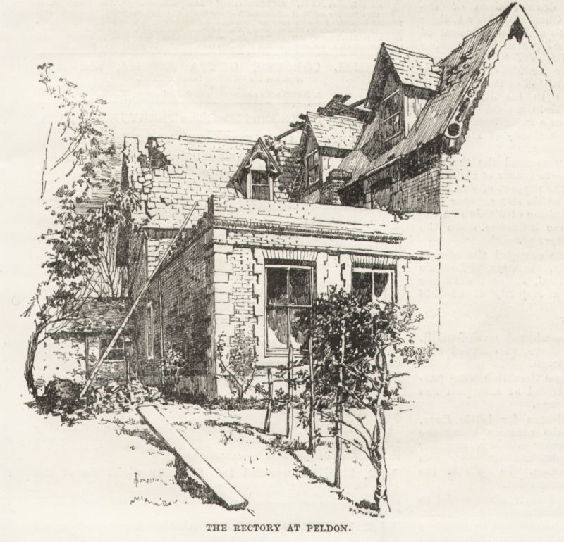 The Rectory at Peldon after the 1884 Earthquake. 