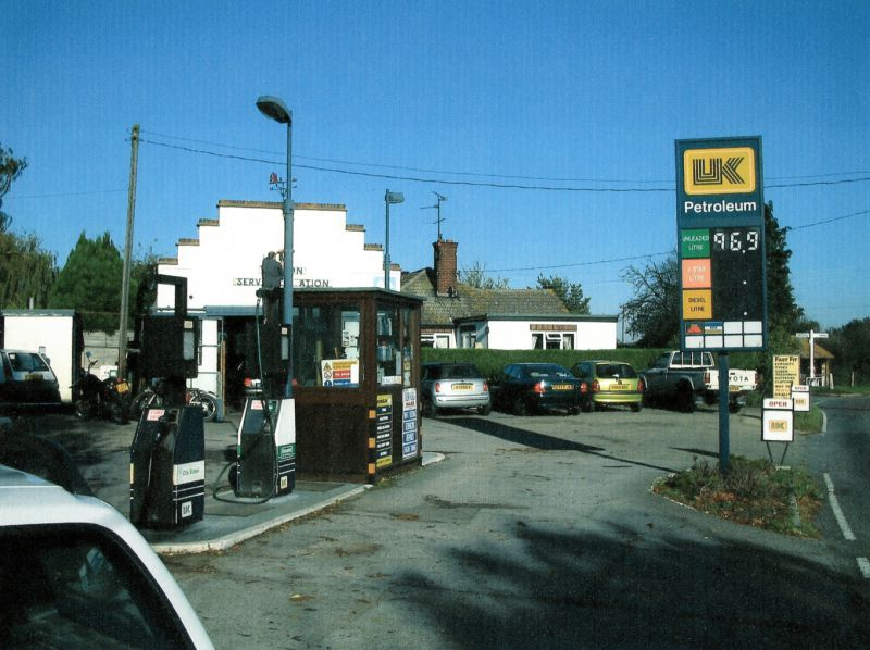 Peldon Service Station a few weeks before it closed. 