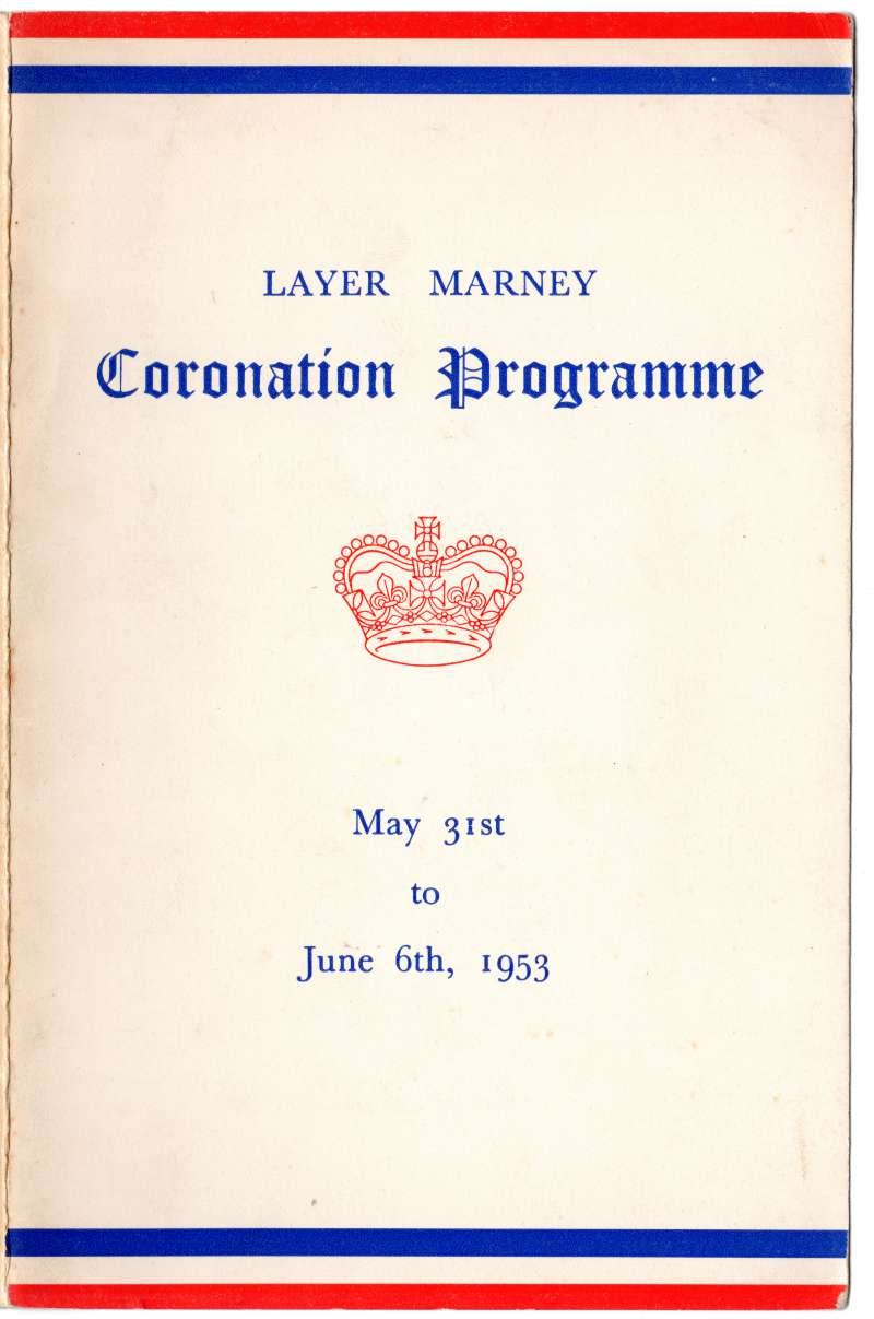 Layer Marney Coronation Programme