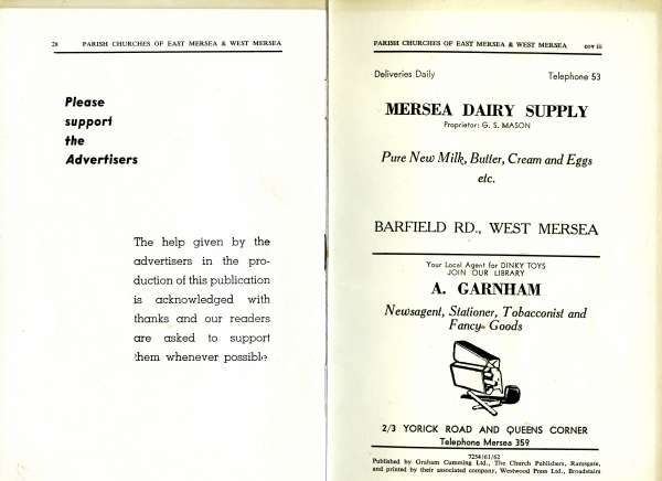 A Short History of the Parish Churches of East Mersea and West Mersea, Essex. Pages 28 and 29