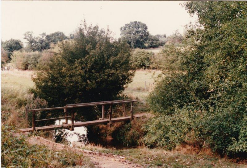Footbridge over the Roman River on the track from Birch Wood to Olivers Farm 