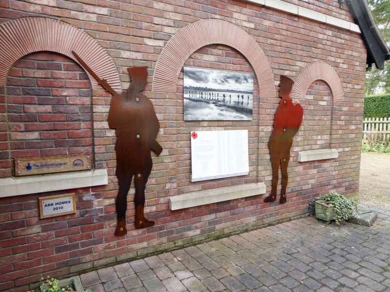 World War 1 Memorial Soldiers and Sailors at Mersea Museum. 51 soldiers and sailors were displayed along the Strood for a year from 11th November 2018, organised by Duncan Pittock. They were then auctioned/raffled in aid of the founding charities, who had financed the project. 