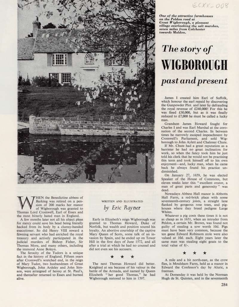 The story of Wigborough past and present by Eric Rayner