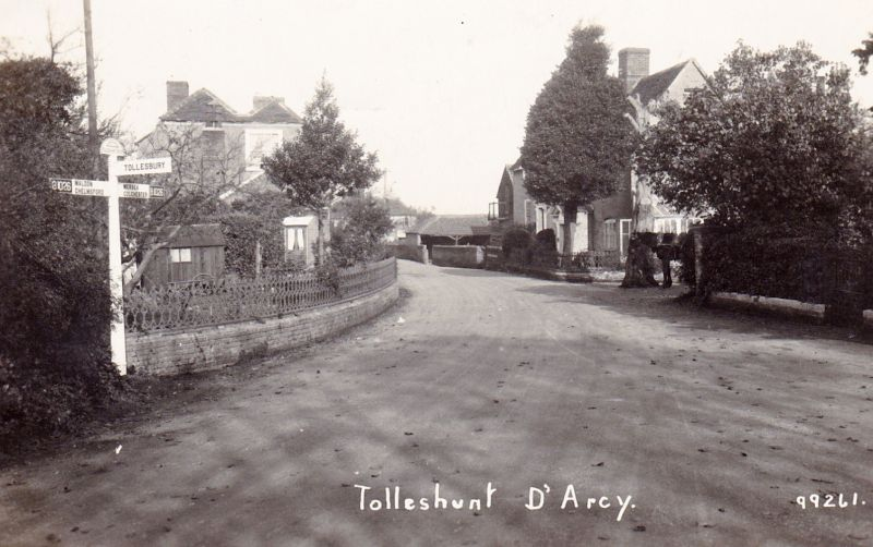 Tolleshunt D'Arcy. Postmarked 20 August 1929 