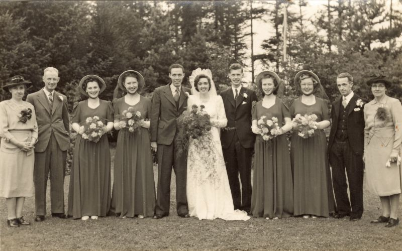 Wedding of Harold Rudlin to Mary Mills