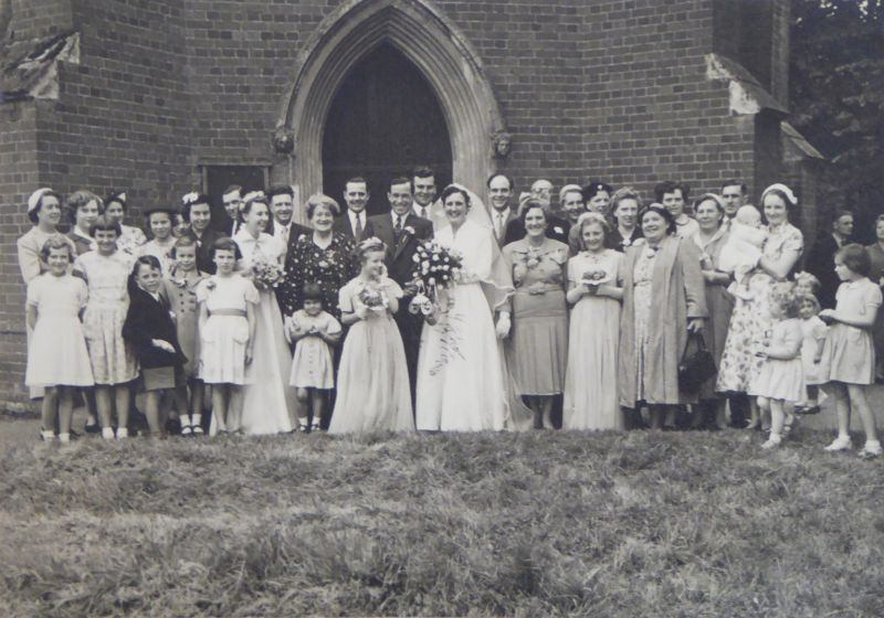 A Ponder Wedding - thought to be Jack Ponder to Patricia Viney.
