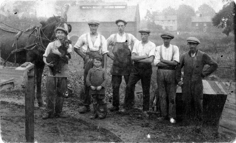 The brickfields run by Clifford White behind Underwoods Garage in West Mersea.