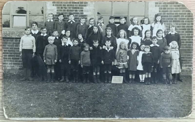Great Wigborough School early 1920s. William Johnson is 5th from the right in the back row. He was born 1911 and lived at Staffords Corner. 