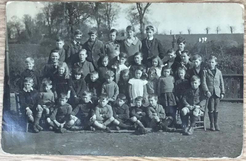 Great Wigborough School early 1920s. William Johnson is standing on his own in the back row from the right. 