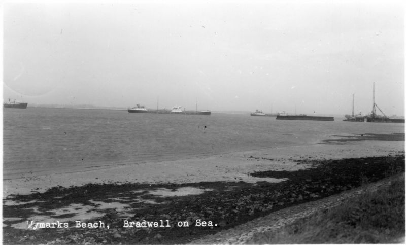 Wymarks Beach, Bradwell on Sea. Postcard franked 13 July 1965.