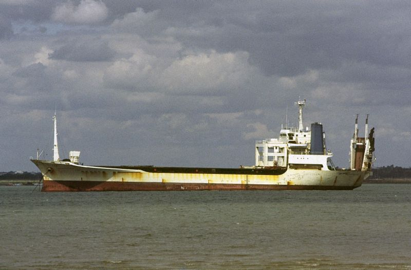 SAPPHIRE BOUNTY laid up in the River Blackwater Date: 25 August 1985.
