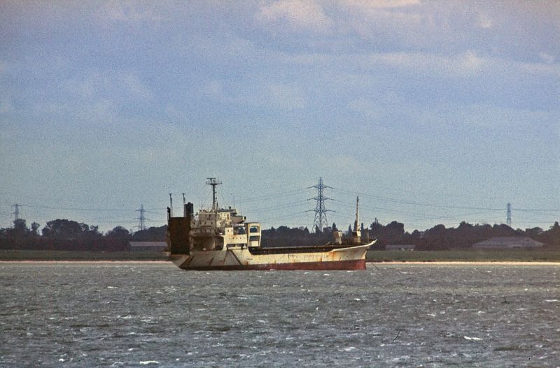 SAPPHIRE BOUNTY laid up in the River Blackwater. Date: 1985.