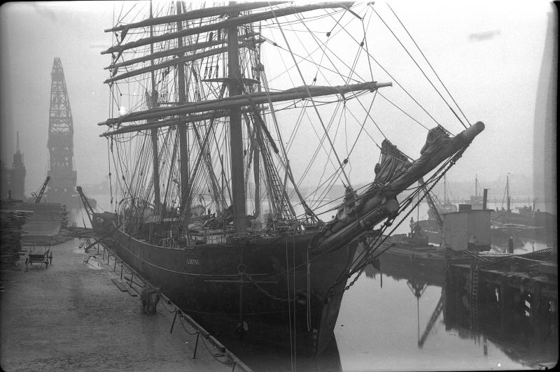 Barque ALASTOR - either in Millwall Dock, London, or Birkenhead. 