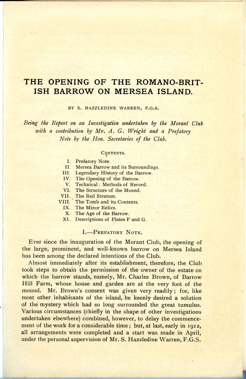 Opening of Romano-British Barrow Page 116. 