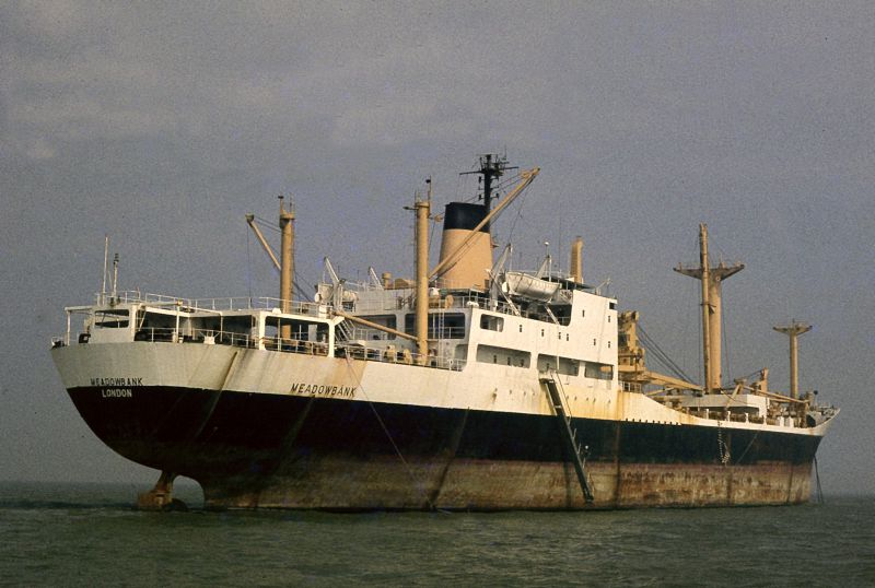 MEADOWBANK laid up in the River Blackwater. Date: 5 September 1982.