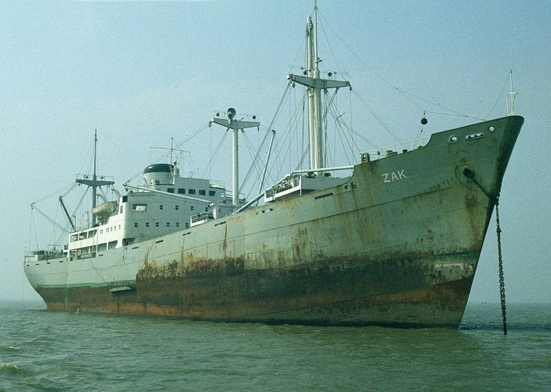 ZAK laid up in the River Blackwater Date: 5 September 1982.