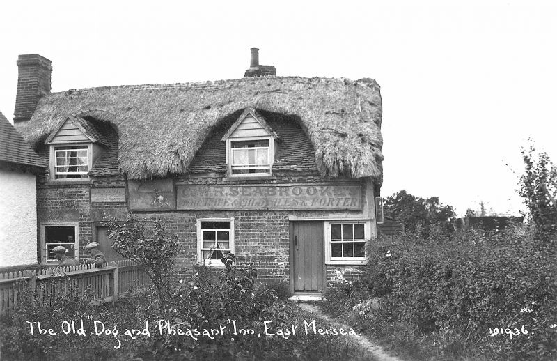 The old Dog and Pheasant East Mersea. Postcard 101936. 