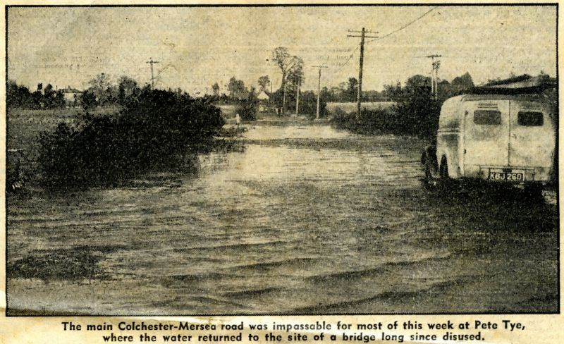 1953 flood at Pete Tye bridge