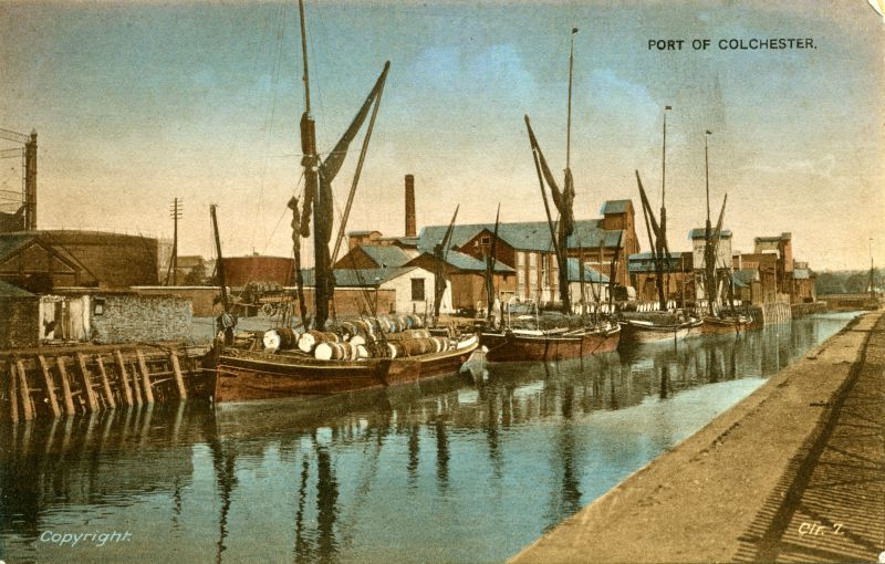 Barges at Colchester Hythe