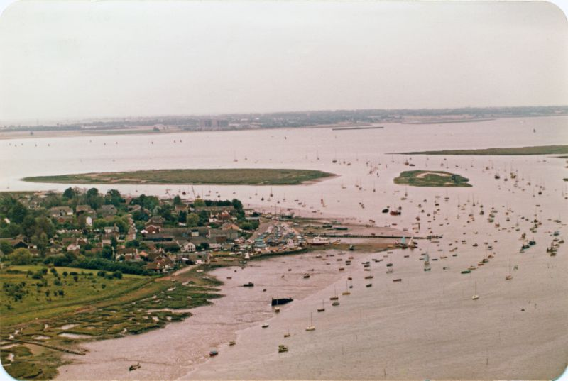 The Hard, Cobmarsh and Packing Marsh Islands. Bradwell in the distance. 