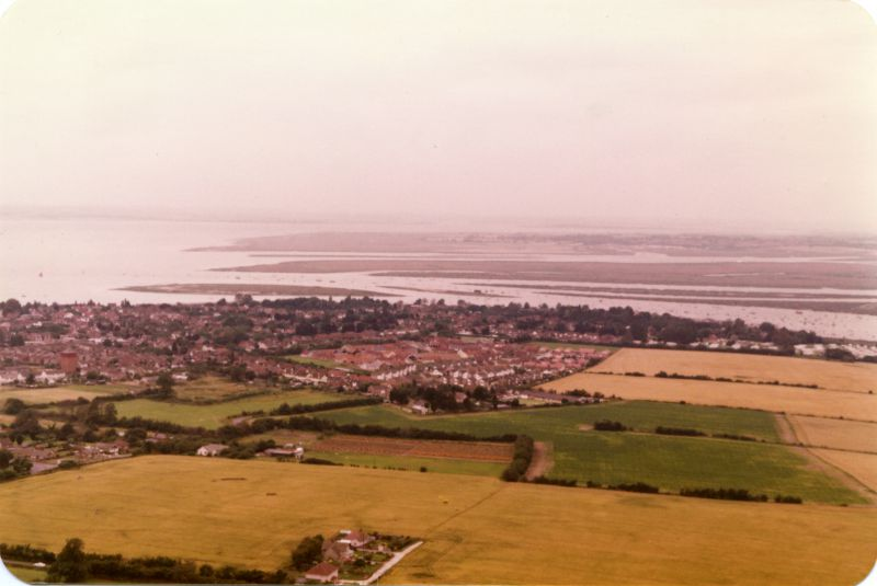 Mersea Island looking west from Wellhouse Farm. 