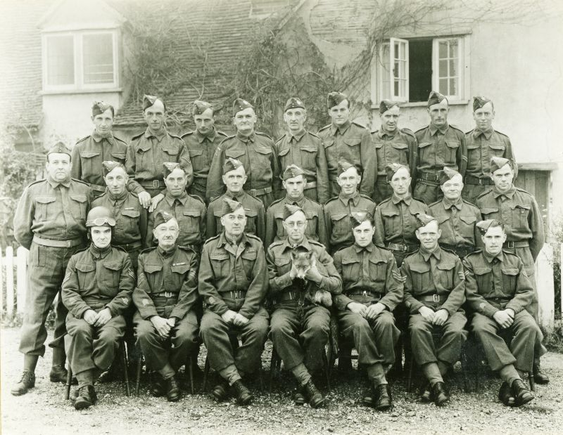 Peldon Home Guard photographed outside the Peldon Rose.
