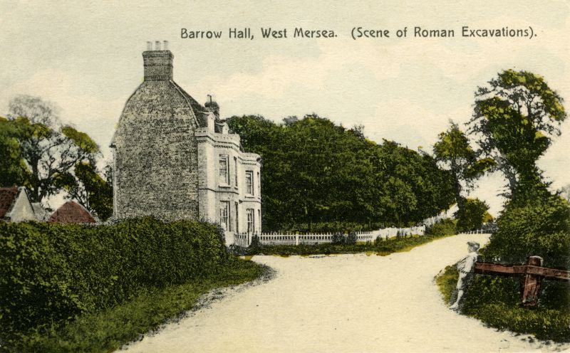 Barrow Hall and the Barrow before the 1912 excavation.
