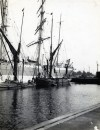 13. ID BF03_001_121_001 The last commercial square rigger to discharge at Ipswich with the spritsail barges MAY and KIMBERLEY. Photo Arthur Bennett.