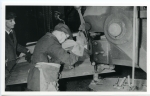 15. ID BF70_001_026_001 Punching a shell plate at Rowhedge Shipyard on a punch and shears press.