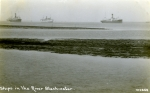 Ships in the River Blackwater post card no. 122858. Postally used 1932. The prominent ships on the left and right are Nelson Line M class. The vessel in the centre is HIGHLAND WARRIOR.