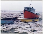 20. ID ASH090 Boats at West Mersea in an icy winter. 