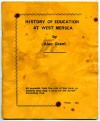 1. ID AG02_001 History of Education at West Mersea by Alec Grant - Cover.