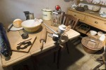 Mersea Museum - the kitchen table inside the Cottage.  MLD_COT_005