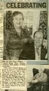 Mr & Mrs Oscar Whiting celebrate their golden wedding. They kept Central Stores in Barfield Road for 27 years.